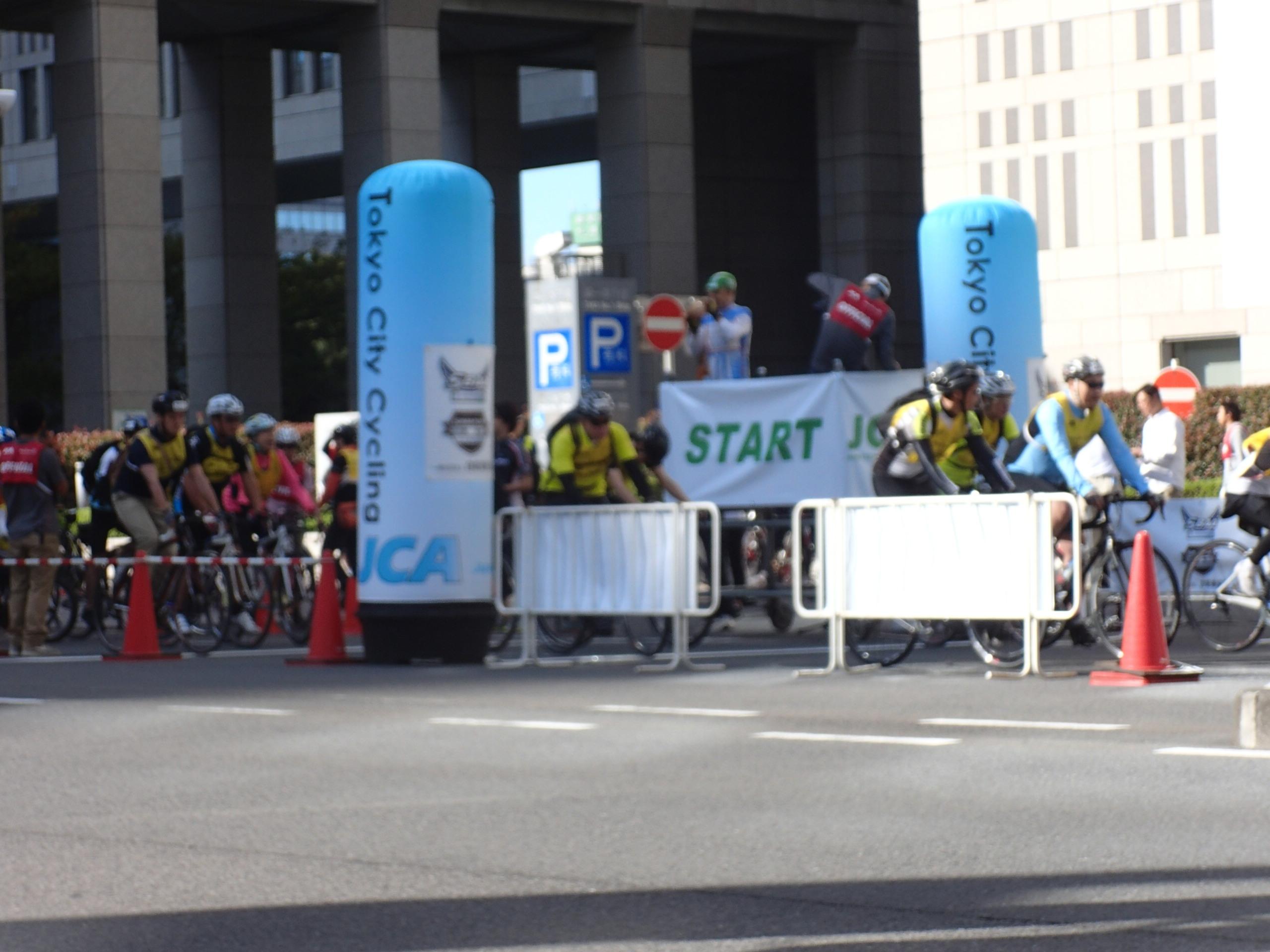 【TOKYO CITY CYCLING 2014 】秋晴れの中、完走につき、コース画像掲載 (^_^)/