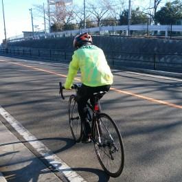ロードバイクで久しぶりの屋外ライド( ^_^)